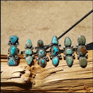 JUST IN Navajo Turquoise Sterling Silver Rings